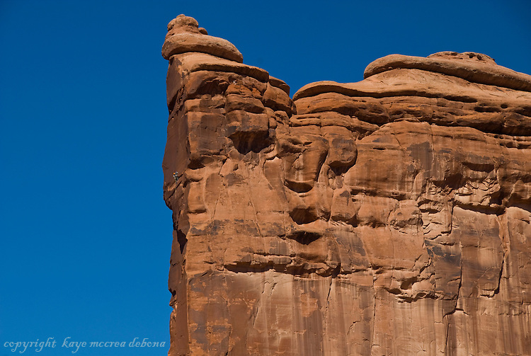 Arches National Park Landscape - Tower of Babel Rock Climbing