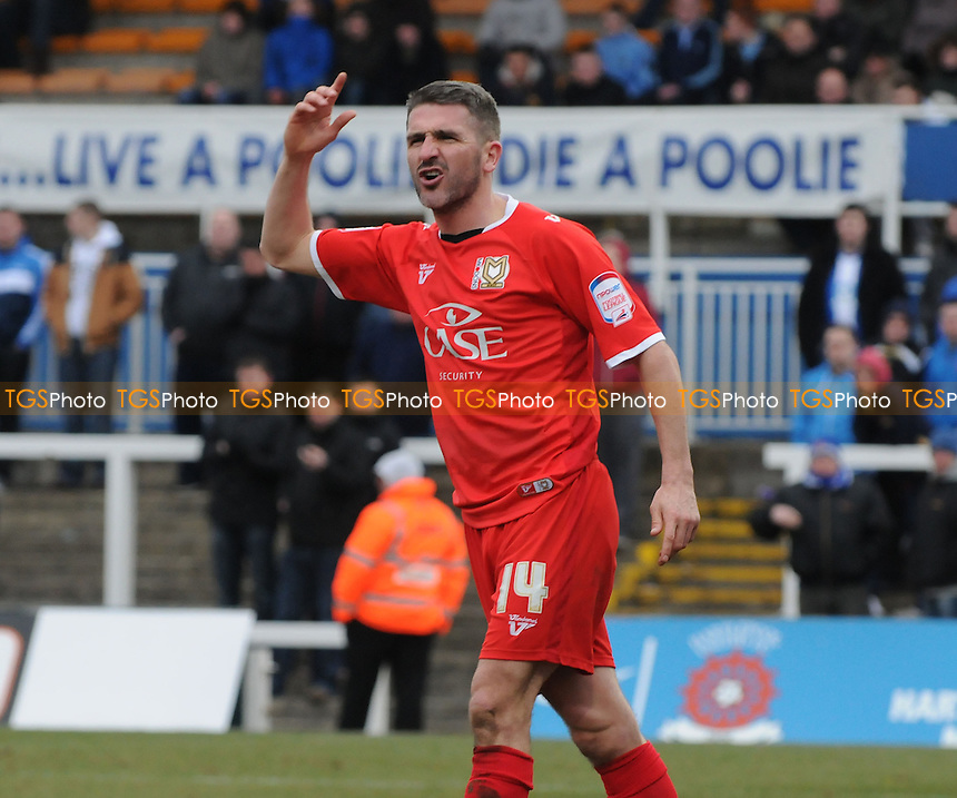 Ryan Lowe of MK Dons - Hartlepool United vs MK Dons - NPower League One Football at Victoria Park, Hartlepool - 29/03/13 - MANDATORY CREDIT: Steven White/TGSPHOTO - Self billing applies where appropriate - 0845 094 6026 - contact@tgsphoto.co.uk - NO UNPAID USE