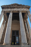 The Temple of Augustus in the city of Pula, Istria County, Croatia