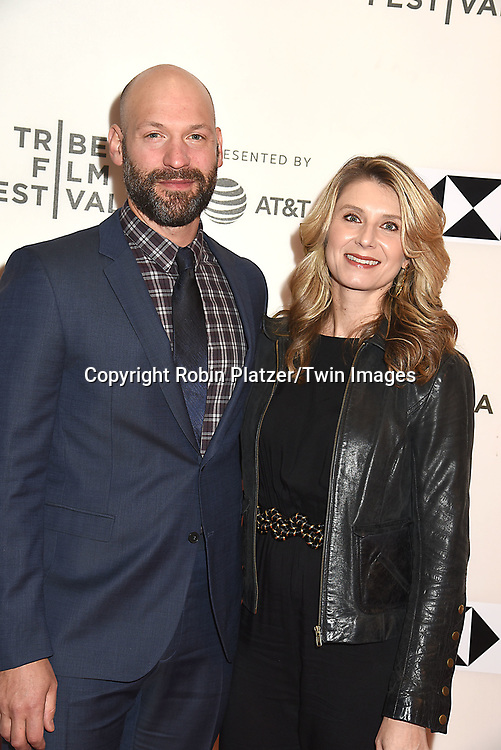 "actor Corey Stoll  and wife Nadia Bowersattends ""The Seagull"" Screening at the Tribecca Film Festival at BMCC on April 21, 2018 in New York City, New York, USA.<br /> <br /> photo by Robin Platzer/Twin Images<br />  <br /> phone number 212-935-0770"
