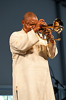 Hugh Masekela plays the 2009 Jazz and Heritage Festival.
