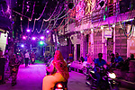 India, Jodhpur, Blue City, Historical City, main street in Blue City at night