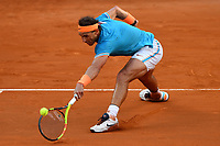 Rafael Nadal of Spain in action during the men's final match against Novak Djokovic of Serbia. Rafael Nadal won 6-0, 4-6, 6-1 <br /> Roma 19/05/2019 Foro Italico  <br /> Internazionali BNL D'Italia Italian Open <br /> Photo Andrea Staccioli / Insidefoto