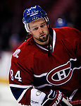 24 September 2009: Montreal Canadiens' right wing forward Guillaume Latendresse warms up prior to facing the Boston Bruins at the Bell Centre in Montreal, Quebec, Canada. The Bruins defeated the Canadiens 2-1 in an overtime shootout. Mandatory Photo Credit: Ed Wolfstein Photo