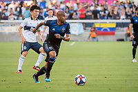 SAN JOSE, CA - AUGUST 24: Judson #93 of the San Jose Earthquakes during a game between Vancouver Whitecaps FC and San Jose Earthquakes at Avaya Stadium on August 24, 2019 in San Jose, California.