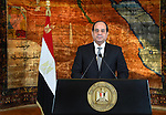 "A handout picture released by the Egyptian Presidency on June 30, 2016, shows Egyptian President Abdel Fattah al-Sisi delivering a speech in the capital Cairo. Sisi described as a ""revolution"" the protests that led to the army ousting his Islamist predecessor, in remarks on the third anniversary of the demonstrations. Millions took to the streets of Cairo and other cities on June 30, 2013 to call for the removal of Islamist president Mohamed Morsi, whose one-year rule had been deeply divisive. Photo by Egyptian President Office"