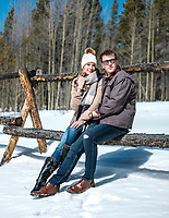 Vortic Watch Company watches with models Georgina Moss and Chase Watkins in Breckenridge, Colorado, Thursday, March 1, 2018.<br /> <br /> Photo by Matt Nager