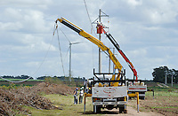 URUGUAY Ciudad de Plata , Anschluss des UTE Windparks Kentilux mit 5 Vestas Windraeder a 2 MW an das Stromnetz der UTE Usinas y Trasmisiones Eléctrica dem staatlichen Energieversorger | .URUGUAY windfarm with Vestas Windturbine and grid connection of UTE the public energy company