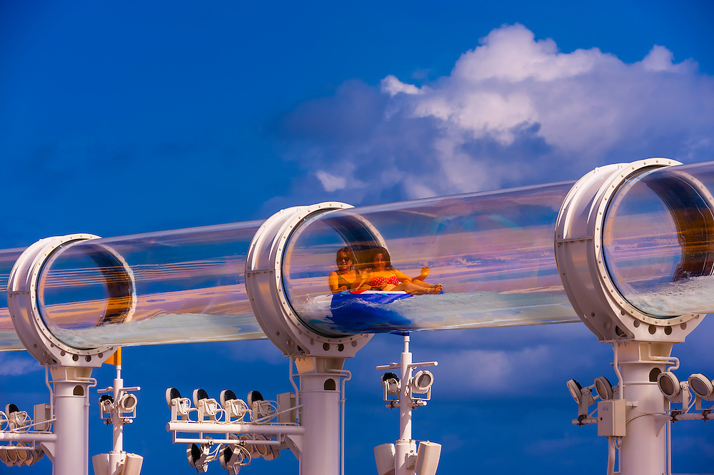 "AquaDuck water slide, aboard the cruise ship ""Disney Dream ..."