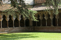 A shady corner of the cloisters at the Benedictine Abbey of St. Pierre in Moissac. This treasure of Romanesque architecture was founded in the 7th Century and took nearly 200 years to complete because of incursions by Moorish and Viking invaders.