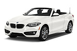 2019 BMW 2 Series 230i Sport Line 2 Door Convertible angular front stock photos of front three quarter view