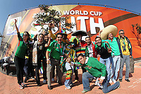 Photo of fans, prior to the opening ceremony of the World Cup 2010 South Africa at the Soccer City stadium of Johannesburg, South Africa.