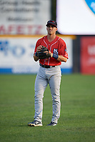 New Hampshire Fisher Cats Nash Knight (10) during warmups before an Eastern League game against the Trenton Thunder on August 20, 2019 at Arm & Hammer Park in Trenton, New Jersey.  New Hampshire defeated Trenton 7-2.  (Mike Janes/Four Seam Images)
