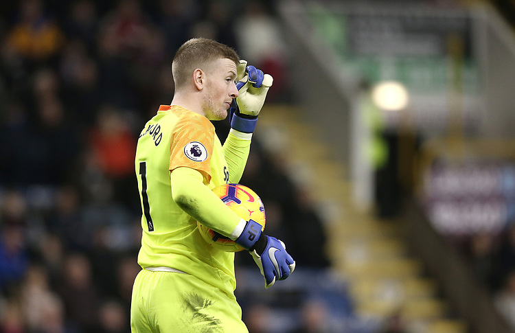 Everton's Jordan Pickford<br /> <br /> Photographer Rich Linley/CameraSport<br /> <br /> The Premier League - Burnley v Everton - Wednesday 26th December 2018 - Turf Moor - Burnley<br /> <br /> World Copyright © 2018 CameraSport. All rights reserved. 43 Linden Ave. Countesthorpe. Leicester. England. LE8 5PG - Tel: +44 (0) 116 277 4147 - admin@camerasport.com - www.camerasport.com