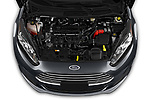 Car stock 2019 Ford Fiesta SE 5 Door Hatchback engine high angle detail view