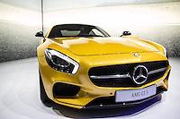 SAO PAULO, SP - 05.11.2014 - SAL&Atilde;O DO AUTOM&Oacute;VEL - Mercedes AMG GT S exposta no Sal&atilde;o Internacional do Autom&oacute;vel na tarde desta quarta-feira (5) em S&atilde;o Paulo. O evento receber&aacute; o p&uacute;blico at&eacute; o dia 9 de novembro.<br /> <br /> <br /> (Foto: Fabricio Bomjardim / Brazil Photo Press)