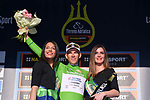 avide Ballerini (ITA) Androni Giocattoli holds onto the Maglia Verde mountains jersey on the podium at the end of Stage 7 of the 2017 Tirreno Adriatico a 10km Individual Time Trial at San Benedetto del Tronto, Italy. 14th March 2017.<br /> Picture: La Presse/Gian Mattia D'Alberto | Cyclefile<br /> <br /> <br /> All photos usage must carry mandatory copyright credit (&copy; Cyclefile | La Presse)