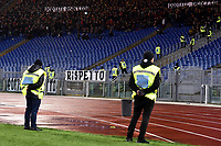 AS Roma supporters protest against AS Roma management during the Serie A 2018/2019 football match between AS Roma and AC Milan at stadio Olimpico, Roma, February 3, 2019 <br />  Foto Andrea Staccioli / Insidefoto