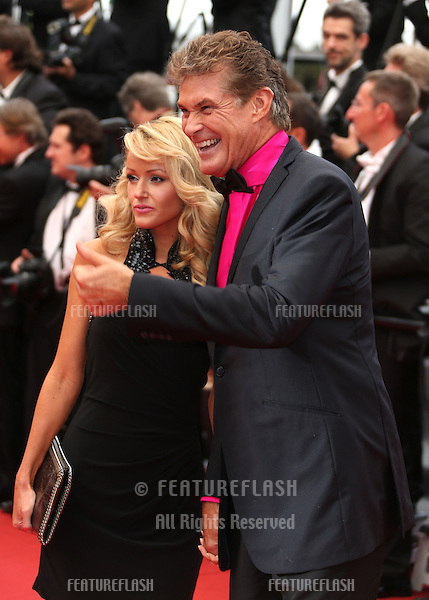 Hayley Roberts and David Hasselhoff at the 66th Cannes Film Festival - The Bling Ring premiere.Cannes, France. 16/05/2013 Picture by: Henry Harris / Featureflash
