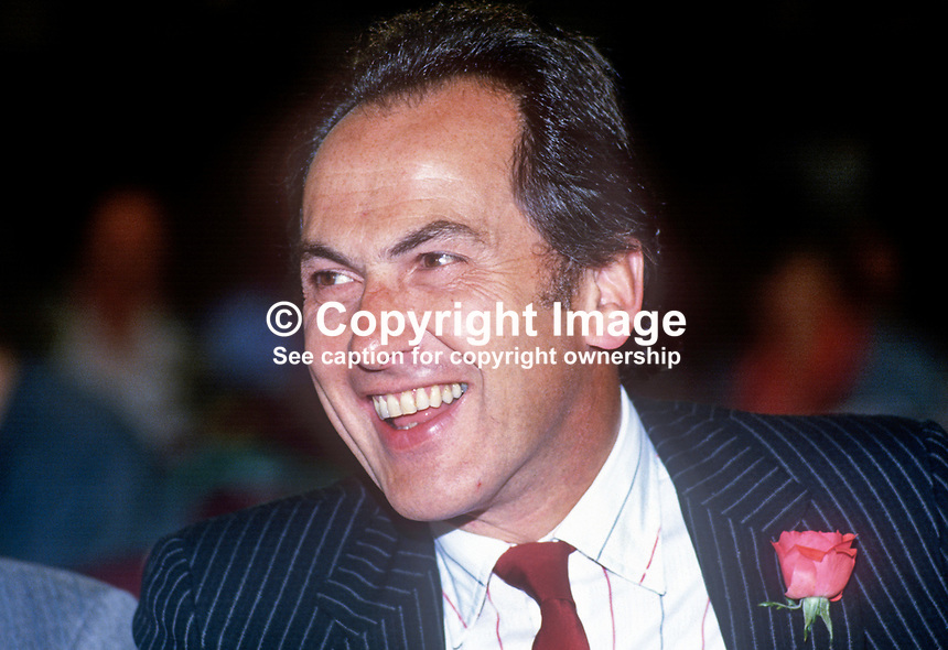 Dr John Cunningham, aka Dr Jack Cunningham, MP, Labour Party, UK, 19860928JC<br />