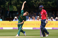 Jake Ball in bowling action for Notts during Essex Eagles vs Notts Outlaws, Royal London One-Day Cup Semi-Final Cricket at The Cloudfm County Ground on 16th June 2017