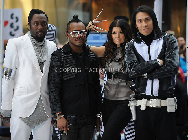 WWW.ACEPIXS.COM . . . . . ....June 12 2009, New York City....The Black Eyed Peas performed on NBC's Today Show at the Rockefeller Plaza on June 12 2009 in New York City....Please byline: KRISTIN CALLAHAN - ACEPIXS.COM.. . . . . . ..Ace Pictures, Inc:  ..tel: (212) 243 8787 or (646) 769 0430..e-mail: info@acepixs.com..web: http://www.acepixs.com