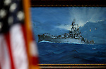 A painting of the USS Nevada seen during a USS Nevada Centennial of Launch ceremony at the Capitol, in Carson City, Nev., on Friday, July 11, 2014.<br /> Photo by Cathleen Allison