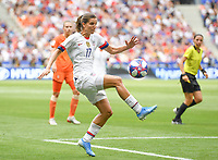 20190707 - LYON , FRANCE : American Tobin Heath pictured during the female soccer game between The United States of America – USA-  and the Netherlands – Oranje Leeuwinnen -, the final  of the FIFA Women's  World Championship in France 2019, Sunday 7 th July 2019 at the Stade de Lyon  Stadium in Lyon  , France .  PHOTO SPORTPIX.BE | DAVID CATRY