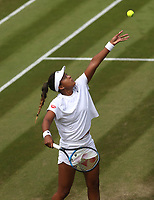 Naomi Osaka (JPN) during her match against Katie Boulter(GBR)<br /> <br /> Photographer Rob Newell/CameraSport<br /> <br /> Wimbledon Lawn Tennis Championships - Day 4 - Thursday 5th July 2018 -  All England Lawn Tennis and Croquet Club - Wimbledon - London - England<br /> <br /> World Copyright &not;&uml;&not;&copy; 2017 CameraSport. All rights reserved. 43 Linden Ave. Countesthorpe. Leicester. England. LE8 5PG - Tel: +44 (0) 116 277 4147 - admin@camerasport.com - www.camerasport.com