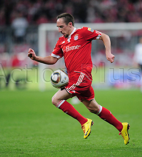 Franck Ribery on the ball for Bayern Munich. Photo: Imago/Actionplus. Editorial Use UK.