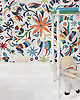 Otomi, a hand-cut jewel glass mosaic, shown in Absolute White, Peridot, Aventurine, Lapis Lazuli, Sardonyx, Citrine, and Ruby, is part of the Kiddo™ Collection by Cean Irminger for New Ravenna.