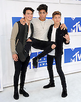 NEW YORK, NY - AUGUST 28:Liam Attridge, Emery Kelly and Ricky Garcia of Forever In Your Mind attend the 2016 MTV Video Music Awards at Madison Square Garden on August 28, 2016 in New York City Credit John Palmer / MediaPunch