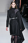 Daiane Conterato walks the runway in a Nicole Miller Fall 2011 outfit, during Mercedes-Benz Fashion Week.