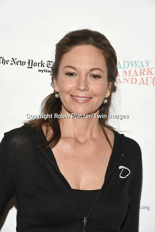Diane Lane attends the Broadway Cares/Equity Fights Aids Flea Market and Grand Auction on September 25, 2016 at the Music Box Theatre and in Shubert Ally in New York, New York, USA. <br /> <br /> photo by Robin Platzer/Twin Images<br />  <br /> phone number 212-935-0770