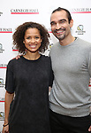 Gugu Mbatha-Raw and Javier Munoz attends The Children's Monologues at Carnegie Hall on November 13, 2017 in New York City.