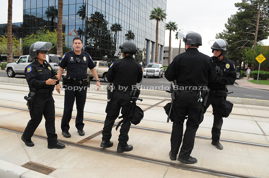 Protesters mark 2nd anniversary of SB 1070 immigration law