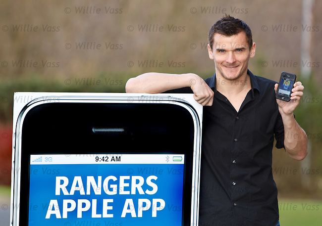 Lee McCulloch with the Rangers iPhone App
