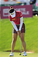 In Gee Chun (KOR) putts on the 18th green during Thursday's Round 1 of The Evian Championship 2018, held at the Evian Resort Golf Club, Evian-les-Bains, France. 13th September 2018.<br /> Picture: Eoin Clarke | Golffile<br /> <br /> <br /> All photos usage must carry mandatory copyright credit (© Golffile | Eoin Clarke)