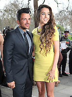Peter Andre and Emily MacDonagh arriving for the TRIC Awards 2014, at Grosvenor House Hotel, London. 11/03/2014 Picture by: Alexandra Glen / Featureflash
