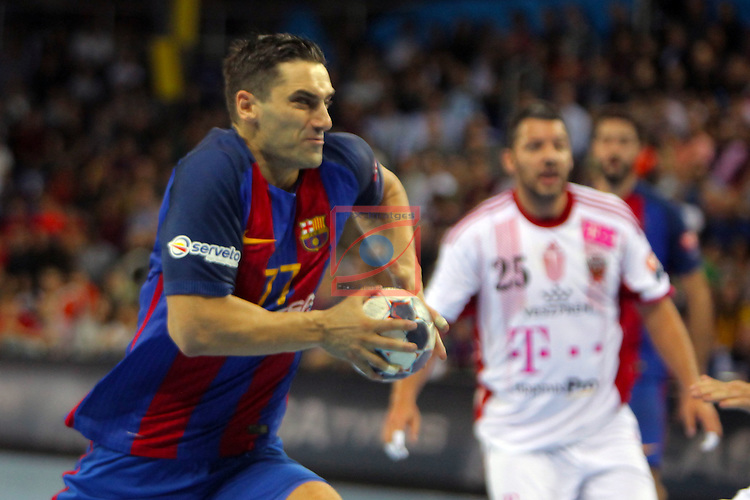 VELUX EHF <br /> 2016/17 EHF Men's Champions League Group Phase - Round 5.<br /> FC Barcelona Lassa vs Telekom Veszprem: 26-23.<br /> Kiril Lazarov.