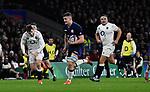 16.03.2019 Guinness Six Nations International Rugby England Vs Scotland at RFU Twickenham Stadium UK<br /> Magnus Bradbury runs on and scores a try for Scotland The match was tied 38-38