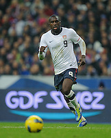 Jozy Altidore of team USA chases the ball during the friendly match France against USA at the Stade de France in Paris, France on November 11th, 2011.
