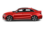 Car Driver side profile view of a 2019 Audi RS-3 4WD 4 Door Sedan Side View