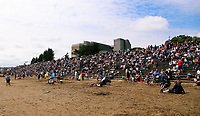 Pictured: A crowd of thousands of people attend the show. Saturday 01 July 2017<br />