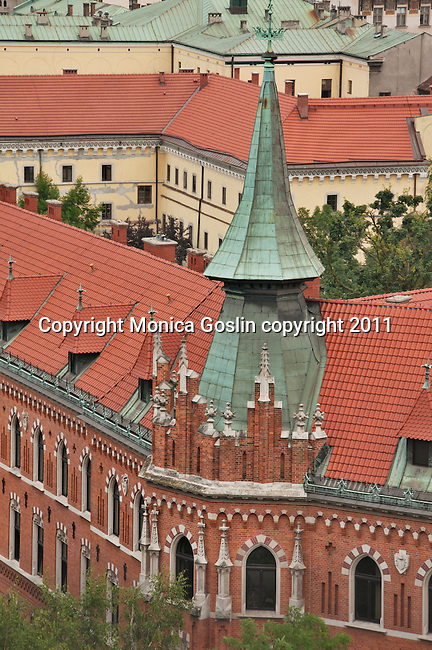 Rooftops of Krakow, Poland