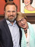 Norbert Leo Butz and Patti LuPone during the Sardi's Portrait unveiling for The Band's Visit composer-lyricist David Yazbek at Sardi's on June 7, 2018 in New York City.