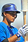 28 February 2011: New York Mets second baseman Ruben Tejada awaits his turn in the batting cage prior to a Spring Training game against the Washington Nationals at Digital Domain Park in Port St. Lucie, Florida. The Nationals defeated the Mets 9-3 in Grapefruit League action. Mandatory Credit: Ed Wolfstein Photo