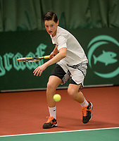The Hague, The Netherlands, March 17, 2017,  De Rhijenhof, NOJK 14/18 years, Jacco Arends (NED)<br /> Photo: Tennisimages/Henk Koster