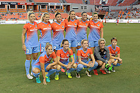 Houston, TX - Saturday July 30, 2016: Houston Dash Starting XI prior to a regular season National Women's Soccer League (NWSL) match between the Houston Dash and the Western New York Flash at BBVA Compass Stadium.