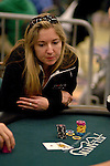 Vicky Coren goes all in and then collects the pot after winning the hand.